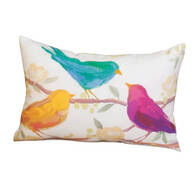 "18""x13"" Birdsong Indoor/Outdoor Throw Pillow"