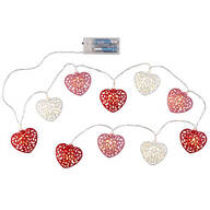 Metal Heart String Lights, Set of 10