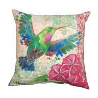 """18"""" Zealous Hummingbird Indoor/Outdoor Throw Pillow"""