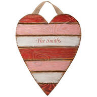 Personalized Wooden Heart Plaque
