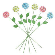 Mini Hydrangea Stakes by Maple Lane Creations™, Set of 6