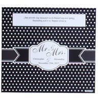 Personalized Candy Bar Dot Wedding Favor Wrapper, Set of 24