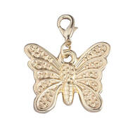 Butterfly Gold Zipper Pull
