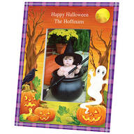 Personalized Haunted Harvest Halloween Photo Frame