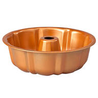 "Copper 10"" Fluted Cake Pan"