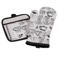 Kitchen Measurements Apron and Oven Mitt Set