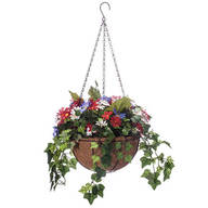 Daisy and Greenery Lighted Basket by Oakridge Outdoor™