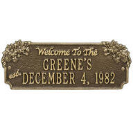 Personalized Daisy Welcome Anniversary Plaque