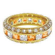 Birthstone and CZ Gold Plated Ring
