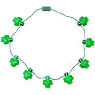 Jumbo Shamrocks Lighted Necklace