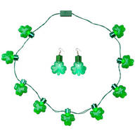 Jumbo Shamrock Necklace and Earrings