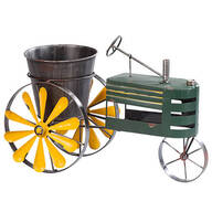 Metal Tractor Windmill Planter by Maple Lane Creations™
