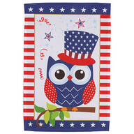 Uncle Sam Owl Garden Flag