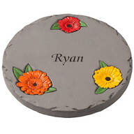 "Personalized 7"" Daisy Garden Stepping Stone"