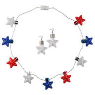 Patriotic Jumbo Necklights and Earrings, Set of 2