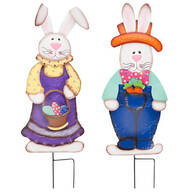 Metal Easter Bunny Boy and Girl by Maple Lane Creations™