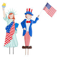 Metal Patriotic Boy and Girl by Maple Lane Creations™