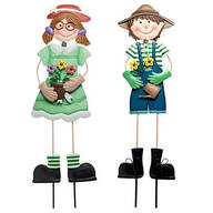 Metal Garden Girl and Boy by Maple Lane Creations™