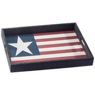 Stars & Stripes Wood Serving Tray