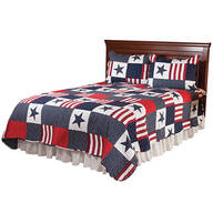 Americana Microfiber Quilt Set