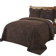 Rio Chenille Bedding Chocolate