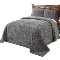 Rio Chenille Bedding Gray