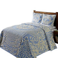 Florence Chenille Bedspread, Blue