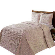 Florence Chenille Bedspread, Pink