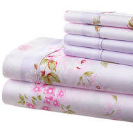 Hotel 5th Ave. 90GSM 4pc Microfiber Sheets, Pink Lavender Floral