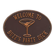 Personalized Martini Deck Plaque