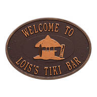 Personalized Tiki Hut Deck Plaque
