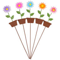 Metal Potted Flower Stakes by Maple Lane Creations™ - Set of 5 -