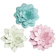 Metal Pastel Flower Wall Hangings by Maple Lane Creations™ - Set of 3