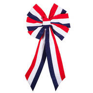 Striped Patriotic Indoor/Outdoor Bow