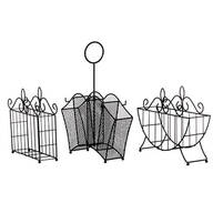 3-Pc. Metal Serving Caddy Table Organizer Set