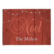 Personalized Barn Wood Noel Doormat