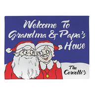 Personalized Grandma & Papa's Santa Claus Doormat