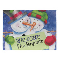 Personalized Welcome Snow Couple Doormat