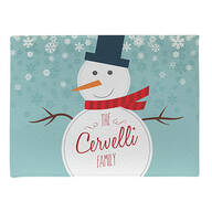 Personalized Welcome Snowman Doormat