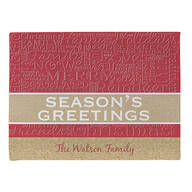 Personalized Season's Greetings Doormat