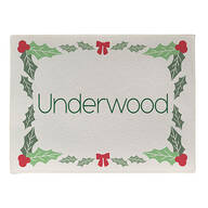 Personalized Holly Berries Doormat