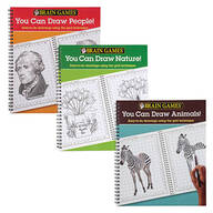 Brain Games® You Can Draw Books, Set of 3