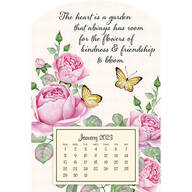 Mini Magnetic Calendar Pretty Butterflies