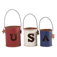 Metal USA Candle Holders by Maple Lane Creations™