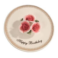 Porcelain Happy Birthday Candle Holder