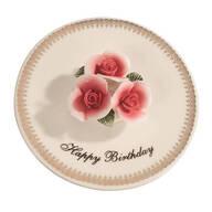 Porcelain Happy Birthday Candle Holder