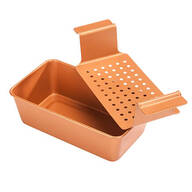 Copper Ceramic Meat Loaf Pan with Insert