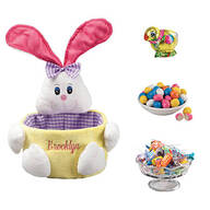 Personalized Pink Easter Basket and Candy