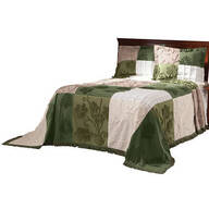 Patchwork Bedspread/Sham King Sage by OakRidge™