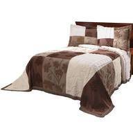 Patchwork Bedspread/Sham Full Chocolate by OakRidge™